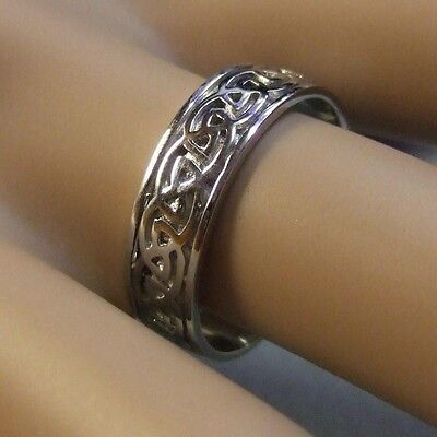 18ct gold second hand white gold celtic band