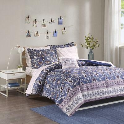 Intelligent Design Calico Comforter and Sheet Set