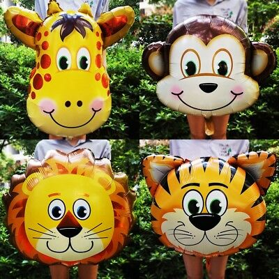 Animal Foil Balloons Kids Decor Safari Jungle Birthday Party Baby Shower - Jungle Safari Balloons
