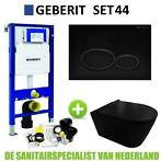 Geberit UP320 Toiletset set44 Civita Black Rimless Met Ma...