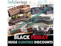 HUGE DISCOUNTS AVAILABLE Brand New Fabric Corner Sofas Cheap Deals Black Friday Bargain
