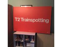 T2 Trainspotting - Promotional Plastic Hoarding 1000x1500mm from Edinburgh World Premiere #T2