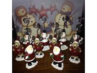 Christmas place markers / photo holders (10)