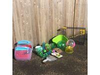Small animal accessories (eg travel balls, hamster play tubes), travel carrier (hamster/guinea pig)