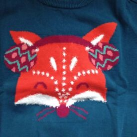 Girls Peacock Top From Cherokee Fox Jumper Size 11-12 Years BNWT