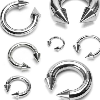 - 5/10/20 lot SURGICAL STEEL Cone Horseshoe Circular Barbell Ring Piercing Jewelry