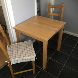 Ikea Dining Table And 2 Chairs With Cushions