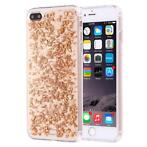 Scattered Glitter case goud iPhone 7 Plus / 8 Plus