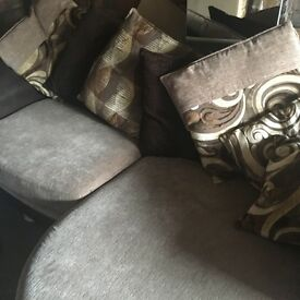 Dfs brown and mink sofa