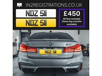 NDZ 511 Number plate / Cherished registration - IN2REGISTRATIONS-(Car,Van,Lorry,Motorcycle)