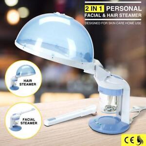 2 In 1 Portable Mini Facial&Hair Steamer Ozone Personal Table Top Skin Care Spa