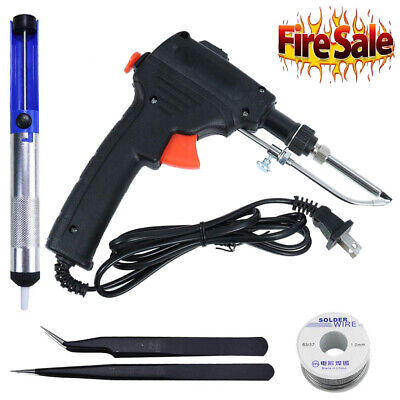 60w Auto Electric Soldering Iron Gun With Flux 2 Solder Wire Tin Wire 50g Bl Us