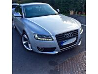 ONO 2009 AUDI A5 COUPE 2.7 DIESEL V6 190BHP! MULTI-TRONIC AUTO FSH AND 2 KEYS! GOOD CONDITION!