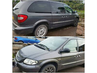 For parts: Chrysler grand voyager 2002; 2.5 Diesel, Manual, 140000m. Grey.