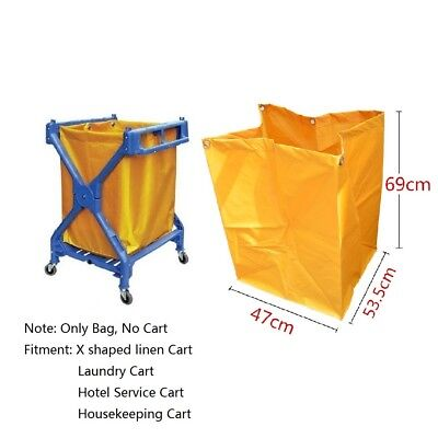 Waterproof Oxford Nylon Cleaning Janitorial Cart Replacement Bag 35 Gallons