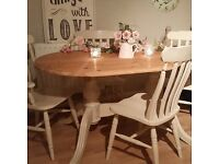 Farmhouse Table & 4 Chairs - Pine - Vintage - Shabby Chic