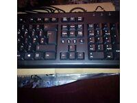CCOMPUTER/ PC KEYBOARD USB MULTIMEDIA & LOGITECH WIRELESS MOUSE BOTH ITEMS BRAND NEW
