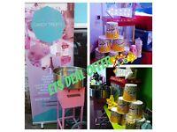 Mascot Hire, Weddings, Chair Covers, Balloons, Hall Decor, Slush Machine, Popcorn, Sweet Cart, Cakes