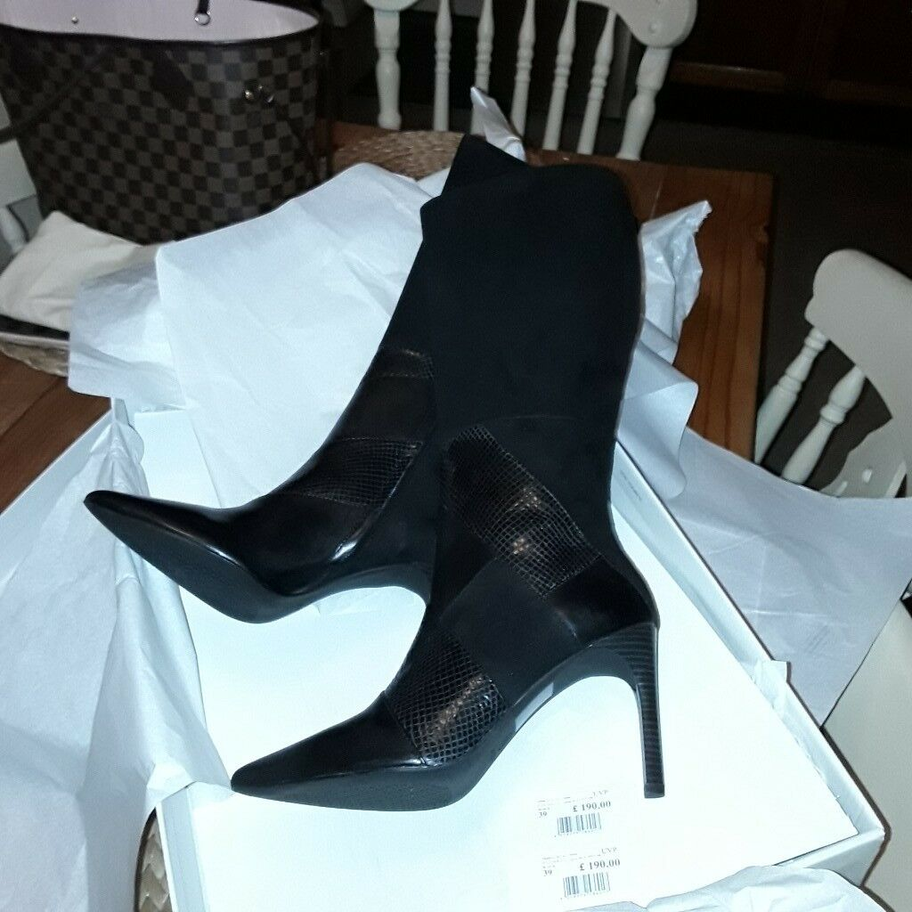 acheter maintenant choisir l'original 2019 real Geox Faviola Leather knee high boots Black 9.5cms heel | in Southampton,  Hampshire | Gumtree
