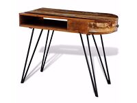 New Reclaimed Solid wood desk with Iron Pin Legs Shabbby Vintage Rustic Antique industrial