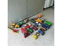 various farm tractors, trailers, accessories