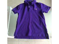 Genuine purple Ralph Lauren polo top age 7T