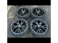 """21"""" alloy wheels alloys rims tyres tyres fits Audi A6 Rs6 a7 Rs7 a8 rs8 5x112"""