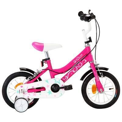 vidaXL Bicicleta para Niños 12 Pulgadas Negro y Rosa Deporte Infantil de Chico