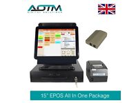 Dual Screen EPOS POS System, Cash Till, Thermal Receipt Printer, Caller ID & Point Of Sale Software
