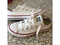 Size 13 white leather converse