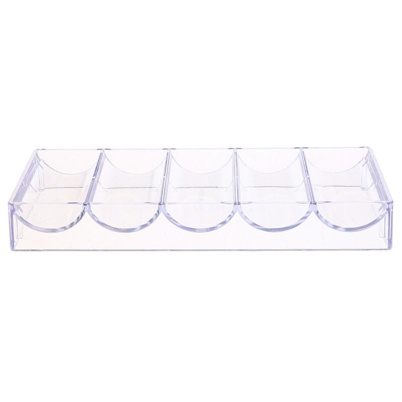 Acrylic Poker Chip Tray Storage Holder Box Professional Casino Accessory