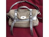 Mulberry Alexa Silver Tweed cross body handbag