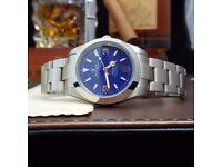 Rolex Explorer Blue Face with silver Bracelet Comes Rolex Bagged And Boxed With Paperwork