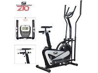 Fitnessform® ZGT® Z10 Cross Trainer 2-in-1 Fitness Elliptical Exercise Bike