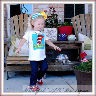 Dr Seuss Outfit (BonEful RTS Boutique BTS GIRL 2T 3T NEW Dr Seuss Cat in the Hat Outfit Top)