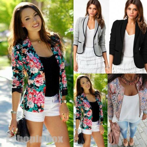 Women Long Sleeve Blazers Suit Tops Casual Office Coat Jacke
