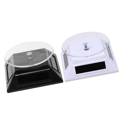 Solar Showcase 360 Turntable Rotating Jewelry Watch Ring Stand Display 2pcs