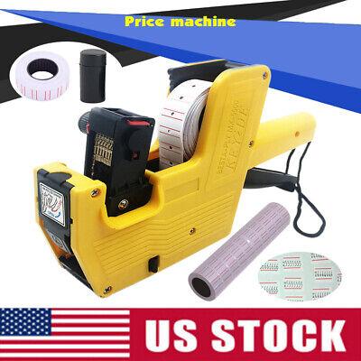 Mx-5500 8 Digits Price Tag Gun10 Rolls Labels W Red Lines Shop Retail Tool Kit