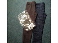 2 pairs leggings new from laredoute age 12 small made