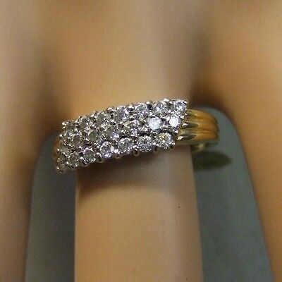 9 ct gold second hand cluster ring