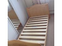 CHILD'S WOODEN SINGLE BED