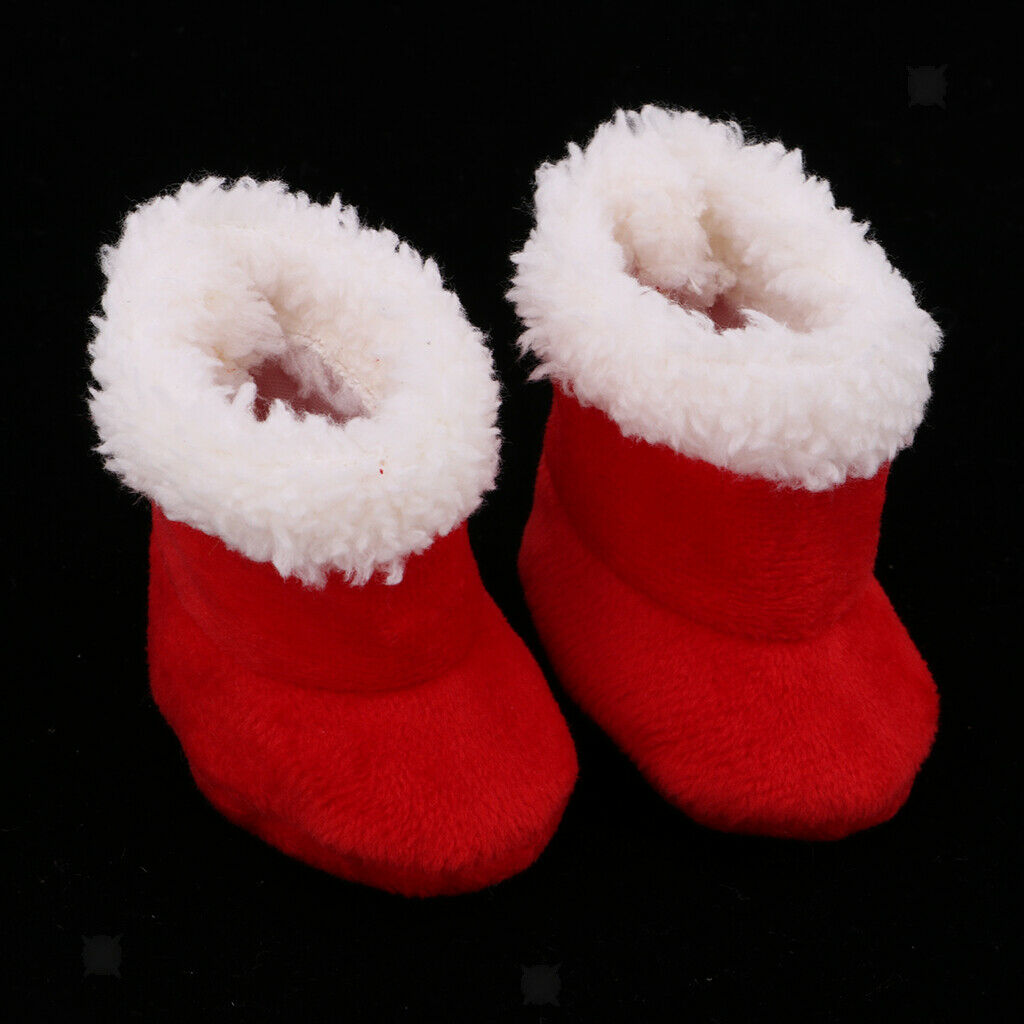 "Red Boots Shoes Outfit for Mellchan 9-11"" Reborn Baby Girl Doll Accessories"