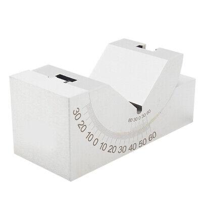 Precision Adjustable Gauge 0-60 Degree Angle V Block Milling Tool 75x25x36mm