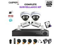 1080p CCTV HD Bullet and Dome IR Cameras 4CH DVR Security kit Waterproof Cameras