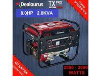 Petrol Generator 8HP Petrol 2.8KVA 4 Stroke - Low Noise - ELECTRIC KEY START
