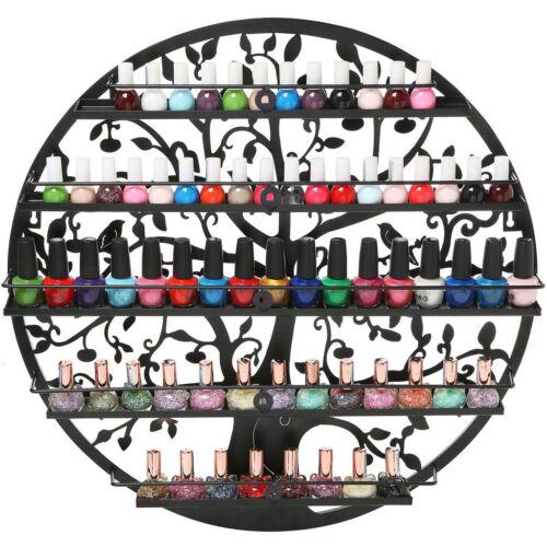 Wall Mount Round Salon Organizer Storage Shelf 5 Tier Nail Polish Rack Holder Health & Beauty