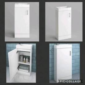 Cloakroom vanity unit with sink.