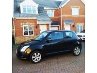 2008 SUZUKI SWIFT 1.4 VVTS GLX, BLACK, FULL SERVICE HISTORY, MOT SEPT 2017