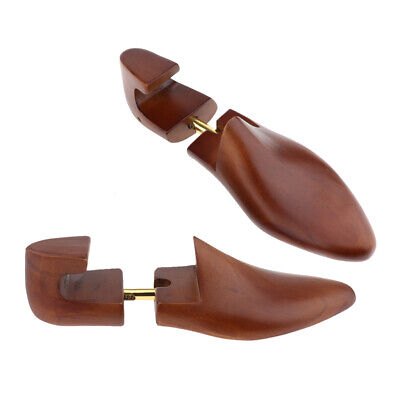 2pcs Mens Adjustable Cedar Wood Shoe Trees Stretcher Shapers Tool Size 39-46