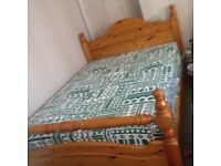 +++ As New Pine Double Bed With Mattress +++